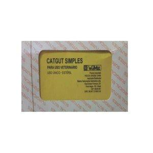 CATGUT N4 SIMPLES CX C/ 12 - ESTERELIZADA - AB1086 CX COM 1 CX