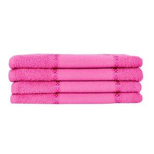 Kit 12 Toalhas Lavabo Pintar Ponto Russo Perfeito Estilo - Pink