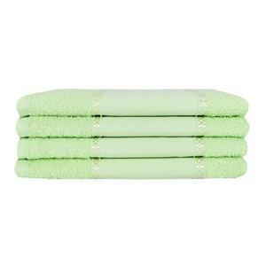 Kit 12 Toalhas Lavabo Pintar Ponto Russo Perfeito Estilo - Verde claro