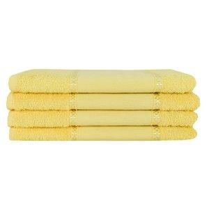 Kit 12 Toalhas Lavabo Pintar Ponto Russo Perfeito Estilo - Amarelo
