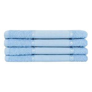 Kit 12 Toalhas Lavabo Pintar Ponto Russo Perfeito Estilo - Azul claro