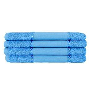 Kit 12 Toalhas Lavabo Pintar Ponto Russo Perfeito Estilo - Azul Turquesa