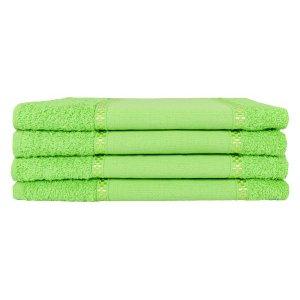 Kit 12 Toalhas Lavabo Pintar Ponto Russo Perfeito Estilo - Verde Pistache