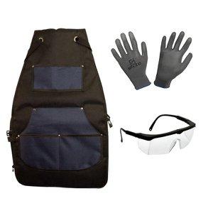Kit Avental Luva Óculos De Proteção Epi - Spazio