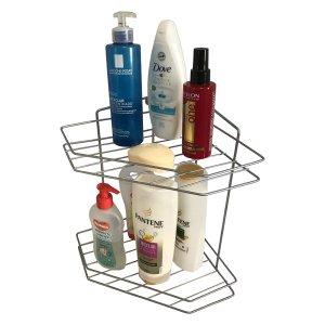 Porta Shampoo de Canto Duplo em Aço