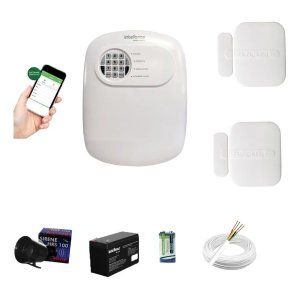 Kit Alarme Anm 24 Net 2 Sensor Porta Janela Intelbras
