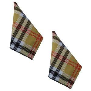 Jogo 2 Guardanapo tecido estampado 45x45 Xadrez luxo premium