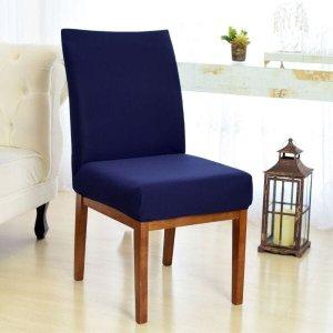 Kit 4 Capas para Cadeira Sala De Jantar Azul Marinho