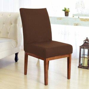 Kit 4 Capas para Cadeira Sala De Jantar Marrom