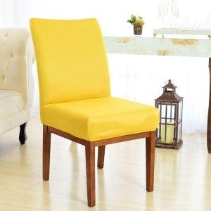 Kit 6 Capas para Cadeira Sala De Jantar Amarelo
