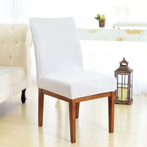 Kit 6 Capas para Cadeira Sala De Jantar Branco