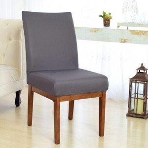 Kit 6 Capas para Cadeira Sala De Jantar Cinza Escuro