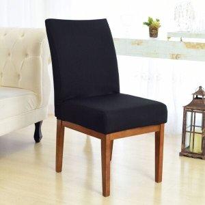 Kit 6 Capas para Cadeira Sala De Jantar Preto