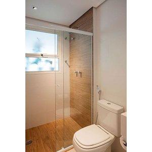 Box de Vidro para Banheiro 1,90x1,00m 8mm