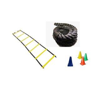 Kit Escada Agilidade+ Corda Naval 34 mm+ 10 Cones Flexível