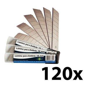 Lâmina P/ Estilete 120 Unidades (12pct) 18mm Brasfort