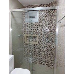 Box de Vidro para Banheiro 1,90x1,10m 8mm Cromado