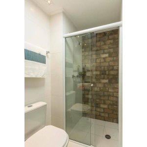 Box de Vidro para Banheiro 1,90x1,10m 8mm Branco