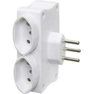 Multi USB Carregador 2 USB e 2 Tomadas Cor Branco - Daneva DN1648