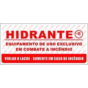 Lacre Adesivo Destrutível Para Portas Caixa de Hidrantes - Pacote Contém 9 lacres