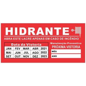 Lacre Selo Hidrante Vistoria com Cortes de Segurança - Pacote contém 9 lacres