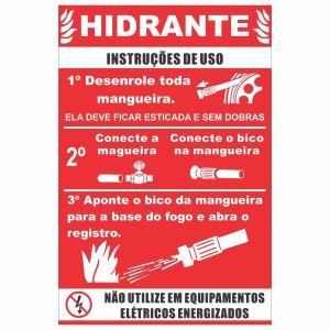 Rótulo Instruções De Uso Para Hidrantes -Pacote Contém 10 Adesivos