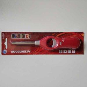 Acendedor de Fogão a Gás Isqueiro Recarregável bico fixo BJ8601: Vermelho