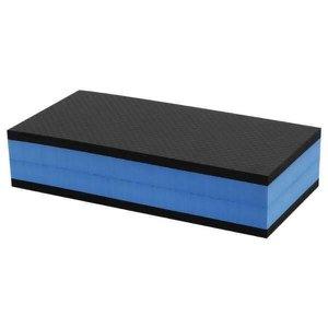 Step De Eva 90X28X14 Preto Com Azul