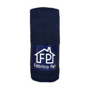 Cobertor Soft Liso para Pet M Azul