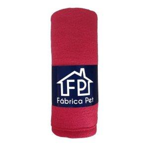 Cobertor Soft Liso para Pet M Vermelho