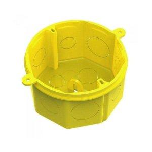 Caixa Luz 4x4 Plástica Octagonal Fundo Móvel Amarela Tigre