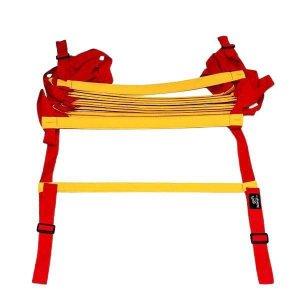 Escada Treinamento Profissional Vermelho Com Amarelo Fixo 6M