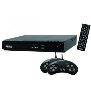Dvd Player PH 150 USB 2.0 Função Game Philco Preto
