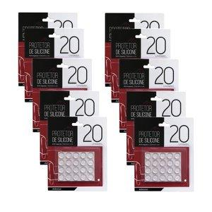 Protetor De Silicone Gota Adesivo Multiuso Anti Impacto Proteção Móveis Vidro 200 Unids
