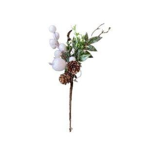 Enfeite Natalino Pick Amora Com Pinha 19cm
