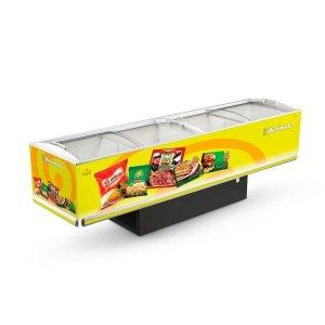 Camara Horizontal Congelados Plus Vidro Curvo 3,00m, Eip 3000 Vc - Refrimate Amarelo/127v