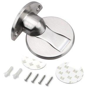 Trava Porta Fixador E Prendedor Invisível Ímã Magnético:prata
