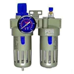 """Conjunto Lubrifil PDR PRO-012 Filtro Regulador e Lubrificador de Ar com Manometro 1/2"""" BSP"""