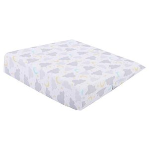 Travesseiro Antirefluxo Rampa Bebês Médio Cinza 36x36x8cm