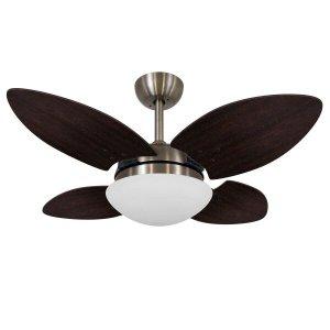 Ventilador de Teto Vidro Fechado 4 Pás Mini Pétalo Volare 127V