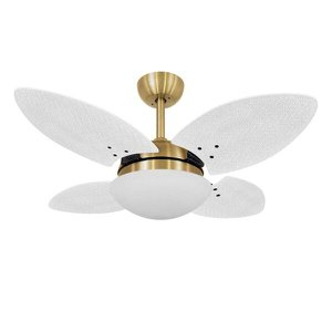 Ventilador de Teto Vidro Fechado 4 Pás Mini Pétalo Volare 220V