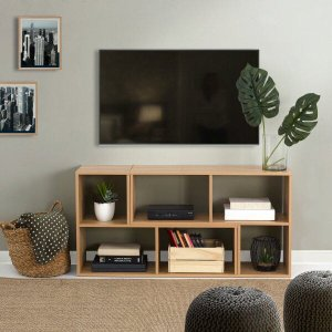 Rack para TVs até 50 Polegadas e Estante Multiuso Arara CabeCasa MadeiraMadeira