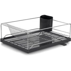Escorredor de louça Dry 16 pratos Com Bandeja Coletora Preta Forma Inox 1313-B