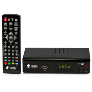 Conversor de TV Digital com Visor LED Gravador e Filtro 4G - ITV-200