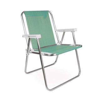 Cadeira de Praia Alta Alumínio Sannet Verde Mor