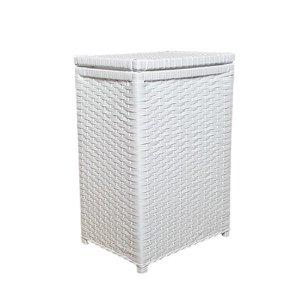 Cesto de Roupa Fibra Sintética Roupeiro 40x25x55 Branco