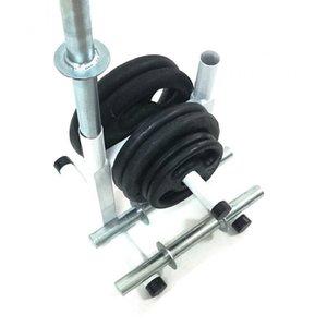 Kit Fitness com Suporte + 50 Kg de Anilhas com Barras