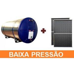 Kit Aquecedor Solar com Boiler 500 Litros Desnível Baixa Pressão Com 3 placas 2x1m cobre