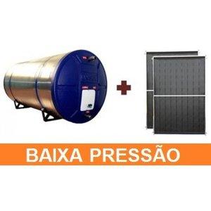 Kit Aquecedor Solar com Boiler 600 Litros Nível Baixa Pressão Com 3 placas 2x1m cobre