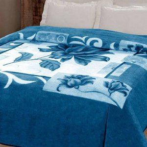 Cobertor Casal Kyor Malbec Azul 1,80x2,20m Jolitex